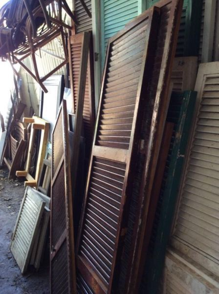 Projects or revamps shutters are always loved and needed so view Hey JUDES piles of choices on these shutters and vintage shutter louvre finds at the farm Barn browse....