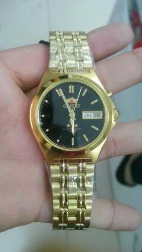 relogio orient dourado crystal 21 - automatico novo original