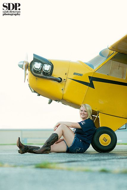Aviation themed senior portraits by SarahDickersonPhoto, via Flickr