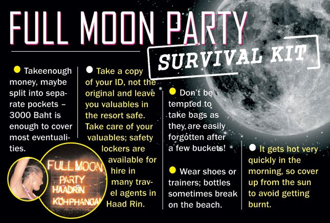 Full Moon Party Dates 2013/2014. Fullmoon 2013 Schedule for Beach Party on Koh Phangan
