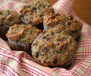 Protein Banana Flax Chocolate Chip Muffins (Healthy, Gluten-Free)