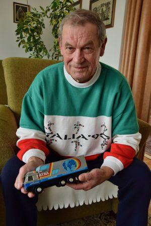 Karel Valchař dnes, řídil Tatru 815 GTC dva roky