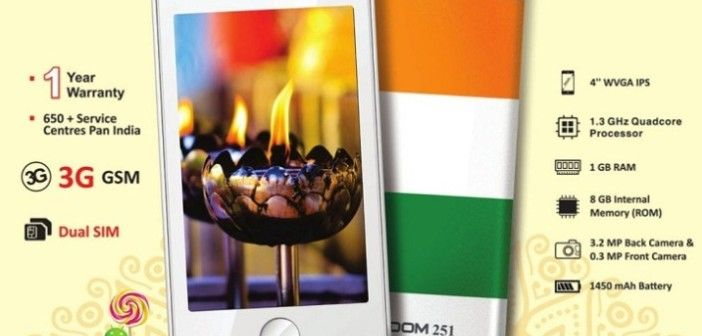 World's Cheapest Smartphone – Indian Company Launched Freedom 251