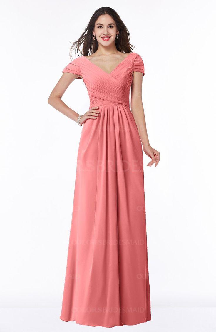 Hermosa Vestidos De Dama De Color Púrpura Y Naranja Inspiración ...