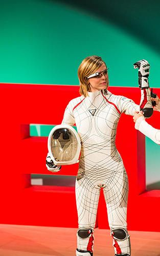 Dava Newman has spent over a decade working on a sleeker spacesuit for Mars exploration. Dava Newman space suit. TEDWomen 2013, SF Jazz Cen...  #Mars #Colony #Spacesuit