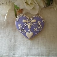 heart cookie  **