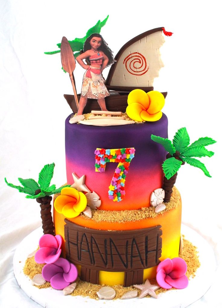 2Tier Moana Cake Design by Cake Bash Studio & Bakery Sherman Oaks