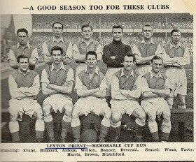 Leyton Orient team group in 1951-52.