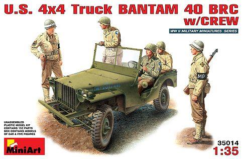 MiniArt U.S. 4x4 Truck Bantam 40 BRC met bemanning € 21,75 http://www.modelbouwwildervank.nl/a-41715777/militaire-voertuigen-wwii-1-35/u-s-4x4-truck-bantam-40-brc-met-bemanning/