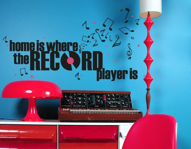 Cute Wandtattoo Recordplayer Wandtattoo Wanddeko Recordplayer Music Musik Home