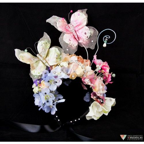 Butterfly Headpiece #accessories #fashion #headpiece #fascinator #hat #headdress #hairstyle #wedding #bridal #crystal #glamour #chic #millinery #romantic #fantasy  #swarovski #weddingheadpiece #collection #fairy #weddings #look #outfit #butterfly