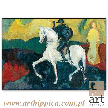 Horse - Painting - Holler Josef | DON KICHOT |  A painting by Josef Holler. Signature: Josef Holler; Technique: oil on canvas; Dimensions: 36 x 24 cm; Exhibitions: Czech Parliament, Millennium gallery – Prague.