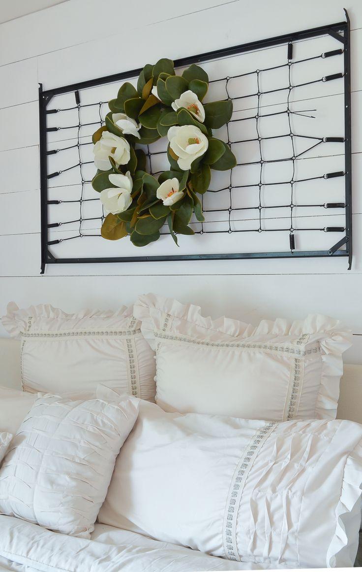 A Vintage Crib Spring Makeover Bedroom Refresh