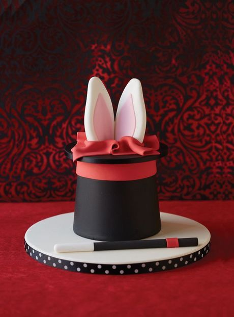 """Hocus Pocus cake - or for easter....make bottom cake into Easter Basket, hide """"ears"""" within green """"grass"""" (coconut).  Kids would LOVE this one!!"""