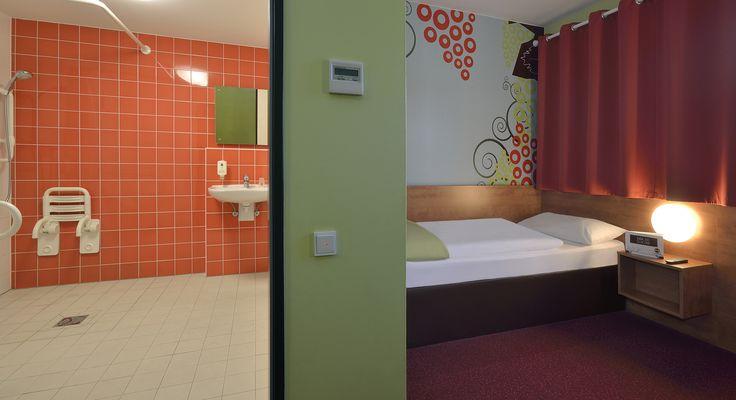 Barrierefreies Zimmer im B&B Hotel Koblenz