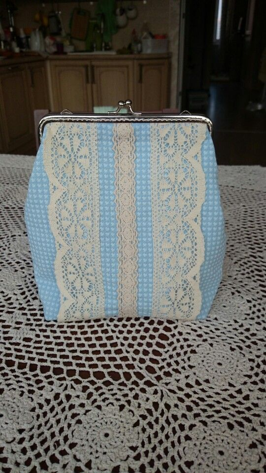 Cotton mini bag shabby shick