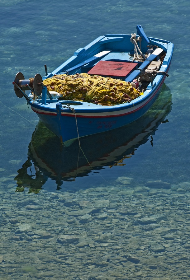 Fishing boat, Amorgos, Greece My wishes are simple.  Just a little fishing boat will do.