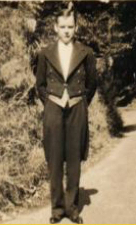 My Dad in full butlers uniform at Headley Park, Surrey, England. Circa 1947