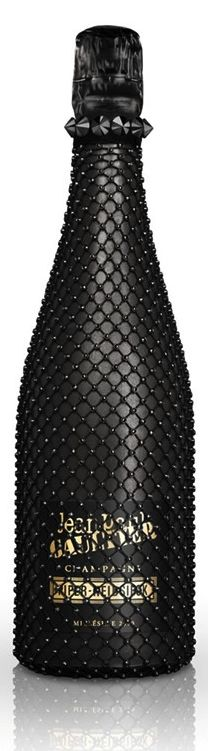 Champagne Couture - piper heidsieck black cancan by Jean Paul Gaultier. PD
