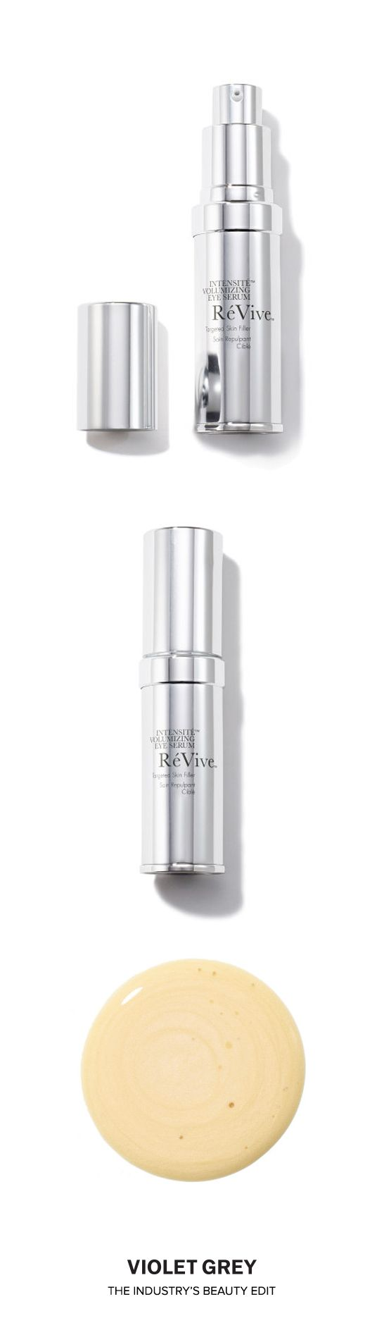 "RéVive's Intensité Volumizing Eye Serum is powered by RES technology and featuring Cellular Filling Complex, this advanced formula helps visibly plump, rebuild volume, and re-contour the delicate eye area by filling in ""hollows"" under the eye. Significantly diminishes the look of dark circles and under-eye bags. 