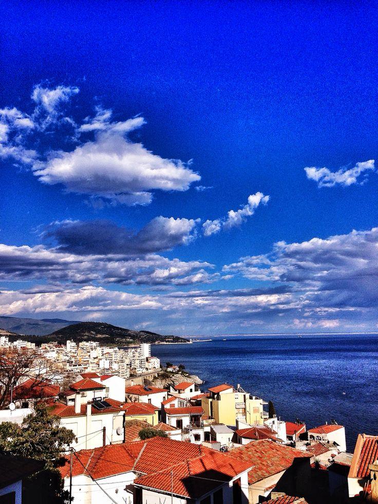 View,Panagia,Kavala,Greece