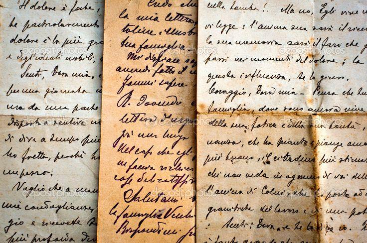 Vecchie lettere scritte a mano su carta vecchia. sfondo vintage — Immagini Stock #14373887