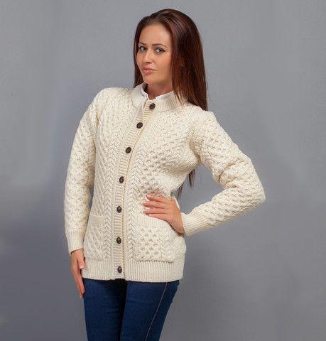 Aran Knit Lumber Cardigan