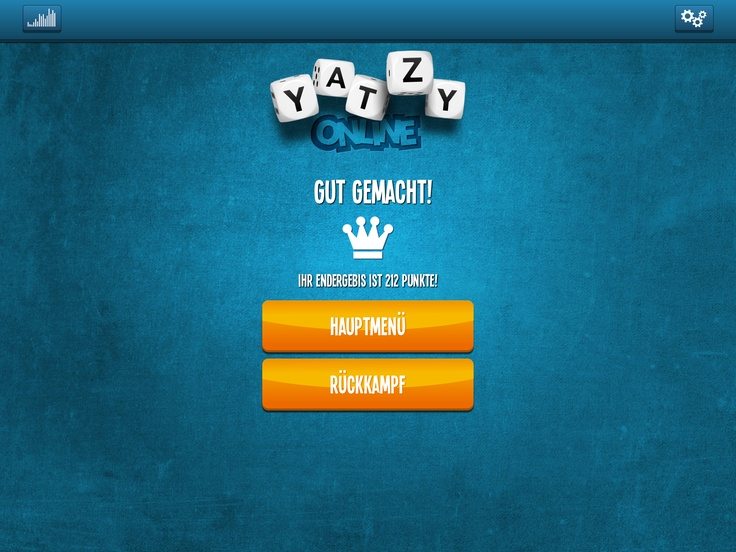 Well done :) We are fluent in German :) Yatzy Online good times :)