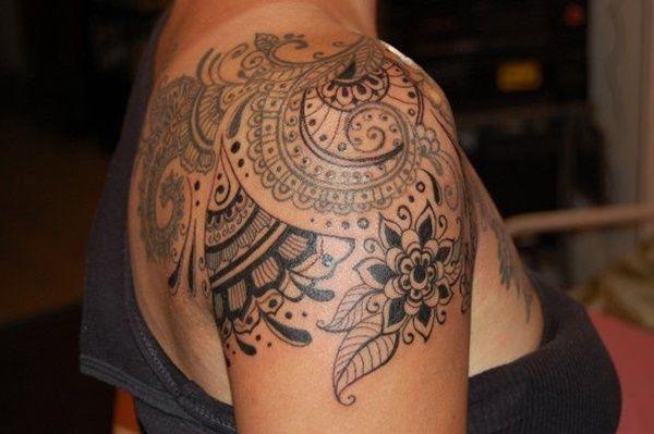 women shoulder tattoo mandala - Google Search