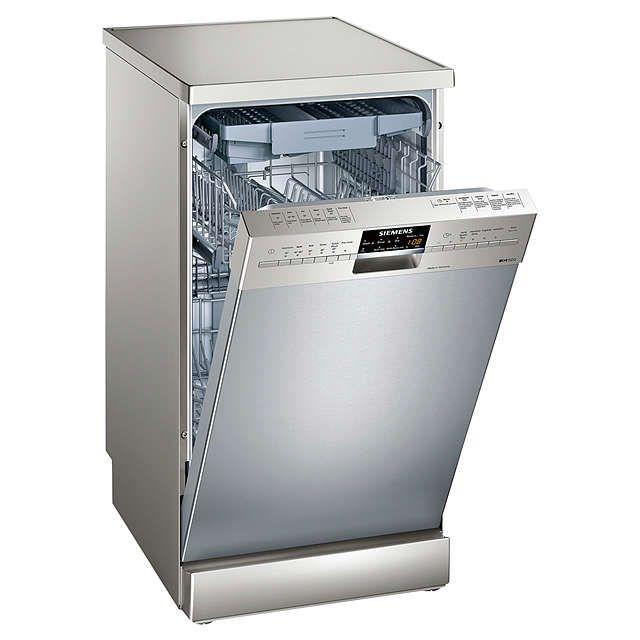 BuySiemens SR26T891GB Freestanding Slimline Dishwasher, Stainless Steel Online at johnlewis.com