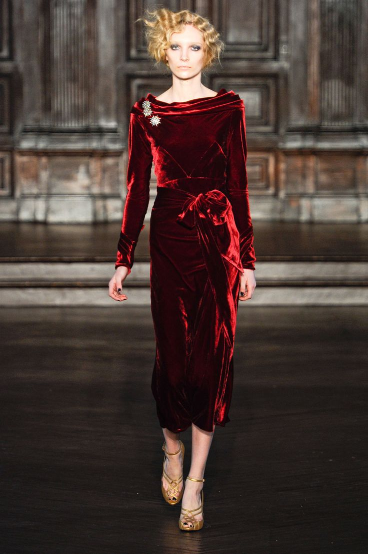 L'Wren Scott - I love her because she always puts velvet on her models.
