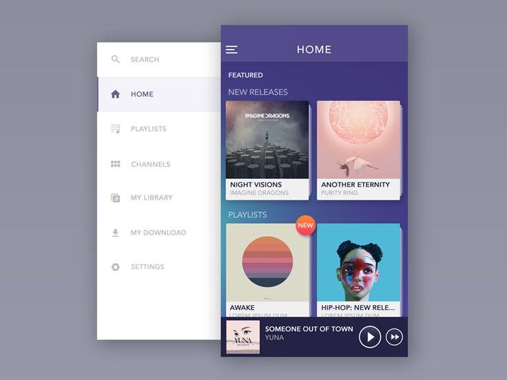 Mobile Menu UI Inspiration — Muzli -Design Inspiration