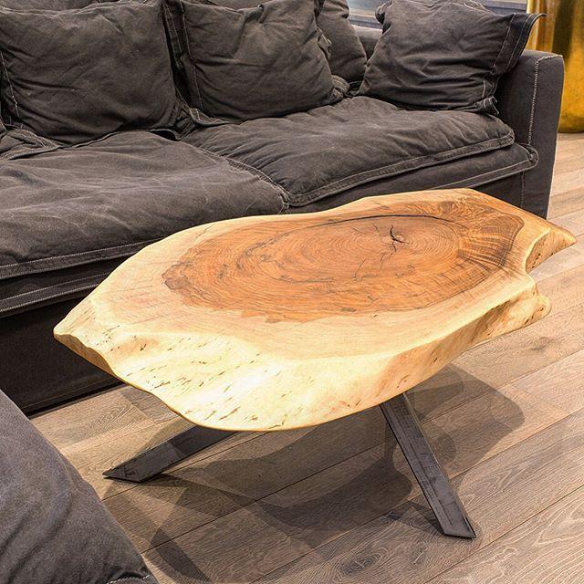 Кофейный столик в стиле live edge из невероятно фактурного ...