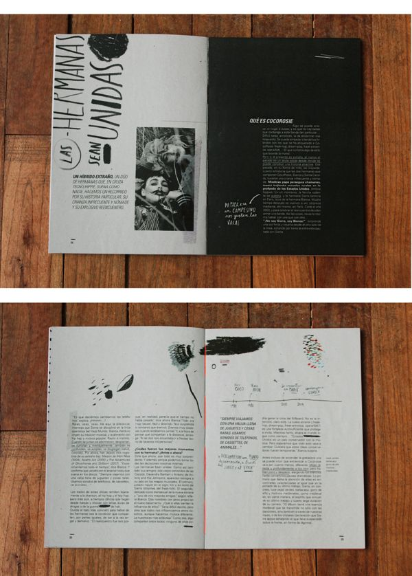 Pressbook / Recital CocoRosie by Ro Gal, via Behance