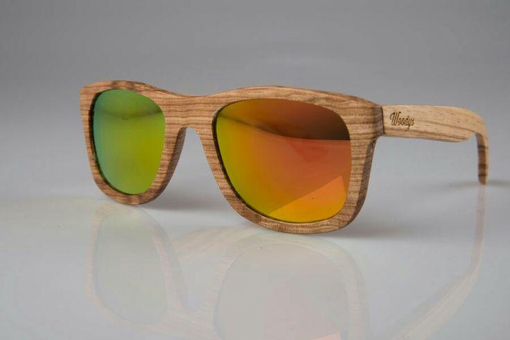 Gafas woodys-barcelona eyewear. Gafas de sol de madera con lente espejo