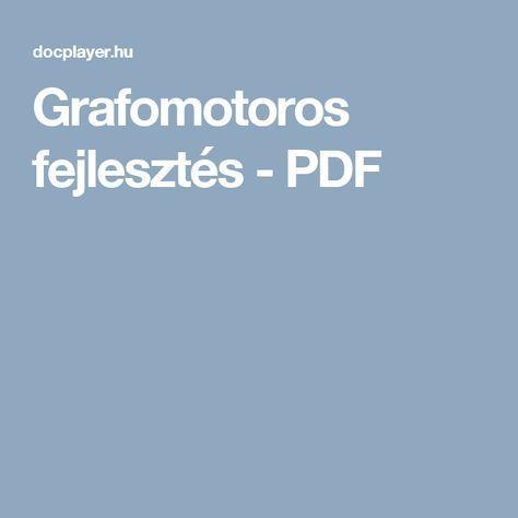 Grafomotoros fejlesztés - PDF