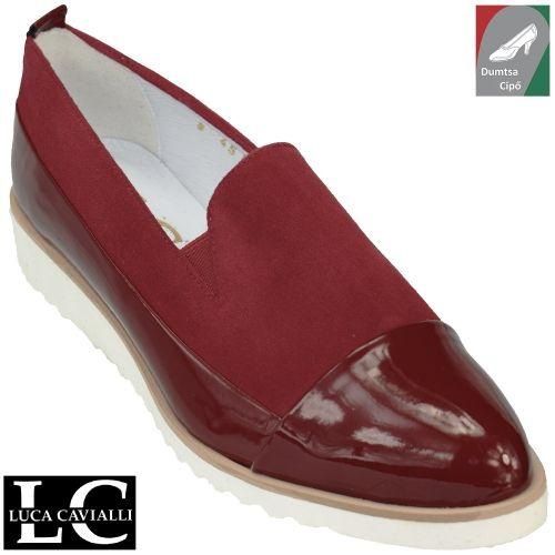 Luca Cavialli női bőr cipő 4551 bordó