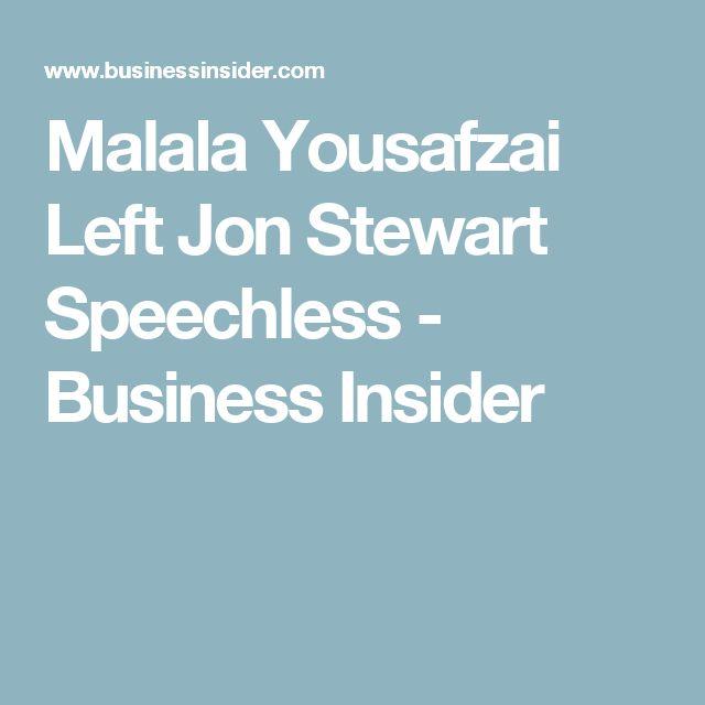 Malala Yousafzai Left Jon Stewart Speechless - Business Insider