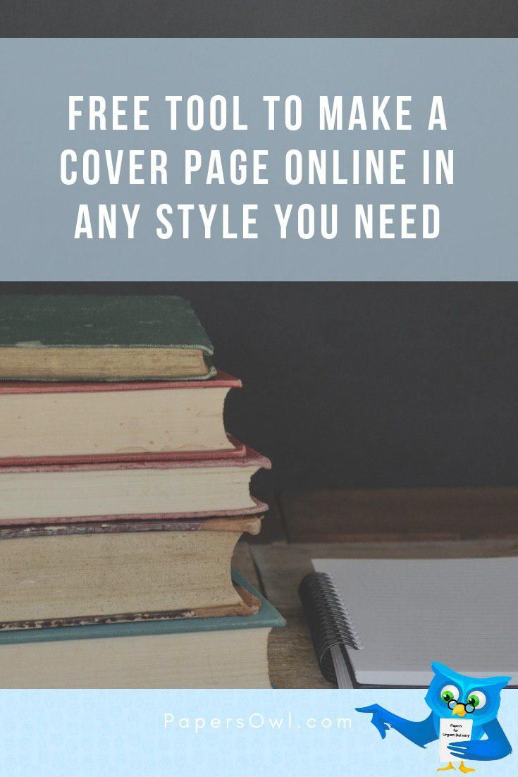 Title Page Maker Free Tool To Make A Cover Online In Any Style You Need Essay Tip Study Writingtip Help Inspar Pages
