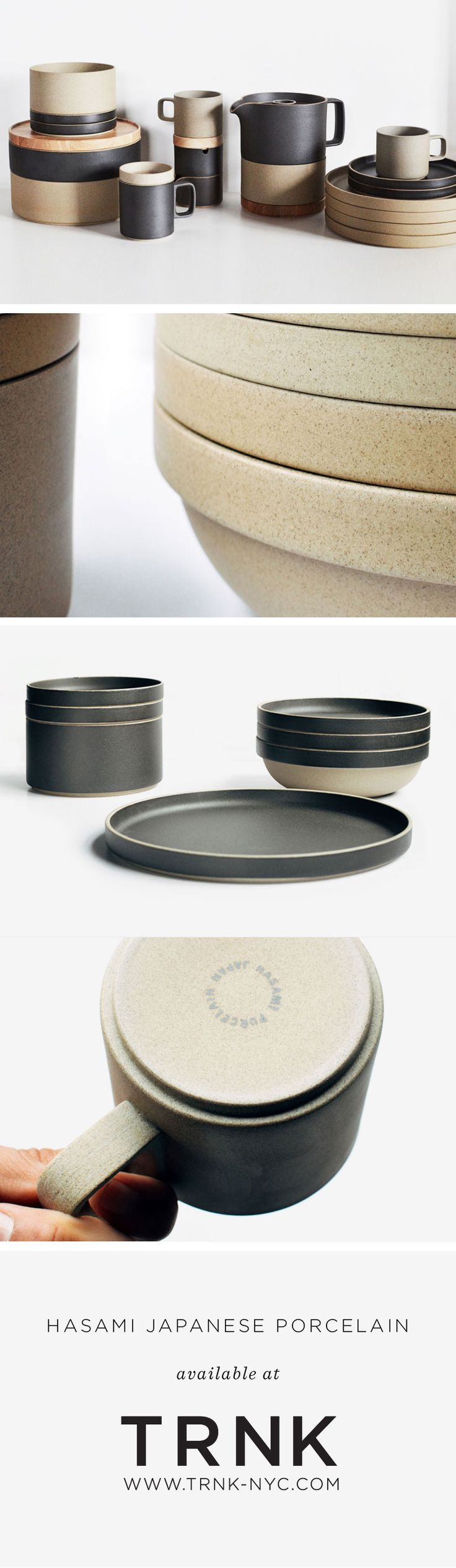 Modern, modular, and multi-functional - each piece is stack-able with pieces of the same diameter. Made in Hasami – a district in Nagasaki, Japan that's been producing ceramics for over 400 years.  Shop it at www.trnk-nyc.com!