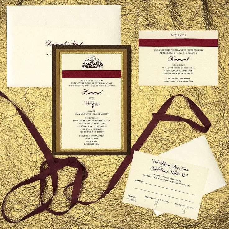 four layer wedding invitation bronze metallic paper
