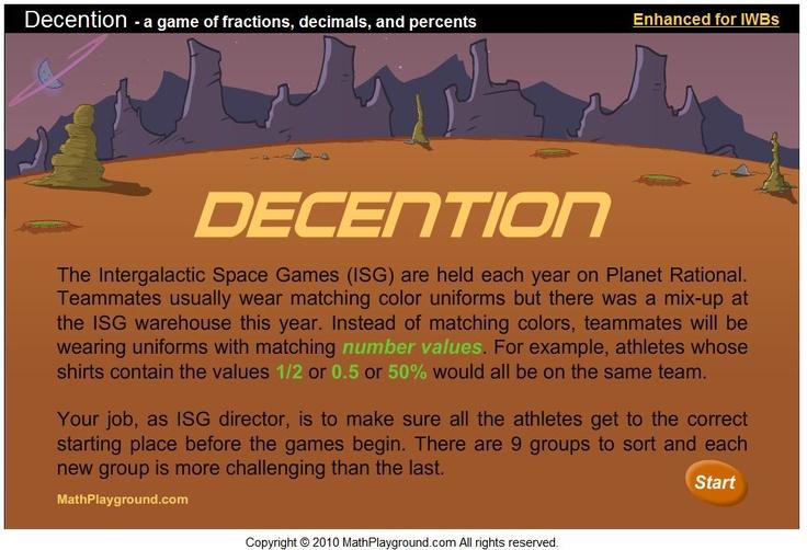 Maths Playground conversion game