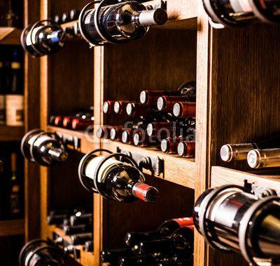 Wine cellar behang keuken