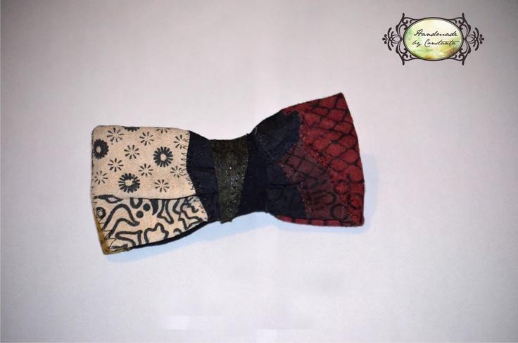 Pretty handmade leather bow tie!