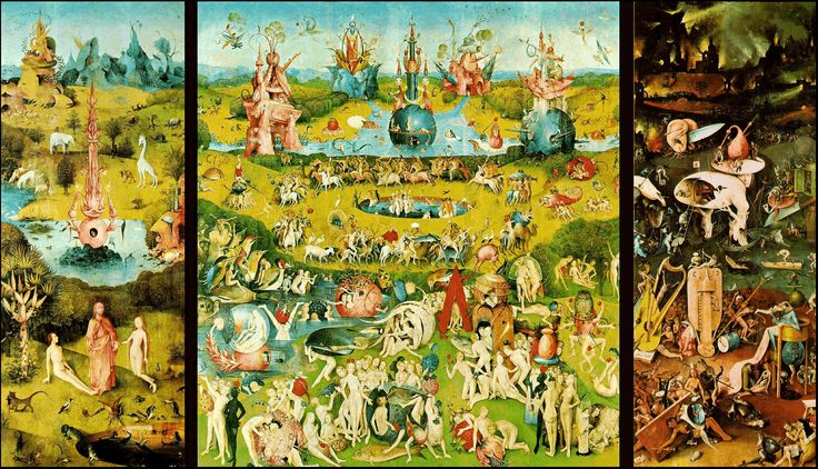 Here's the full view Hieronymous Bosch - The Garden of Earthly Delights