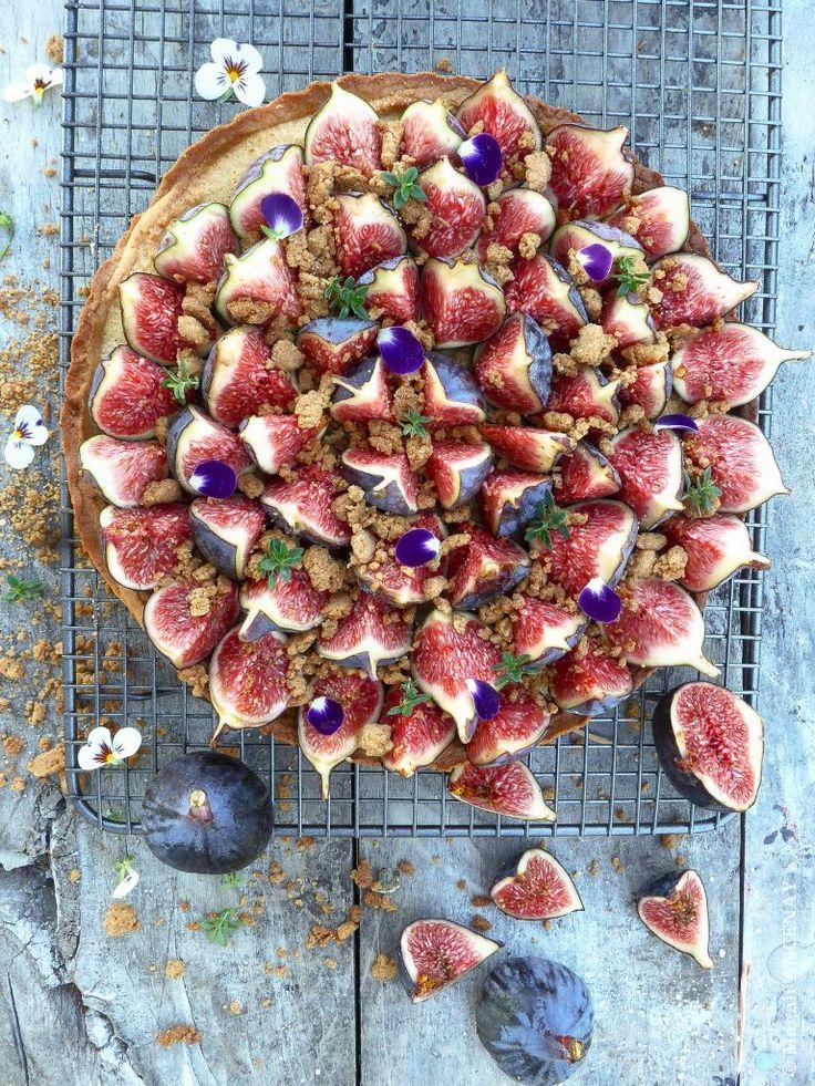 tarte aux figues et à l'amande, deux beaux produits de notre Provence