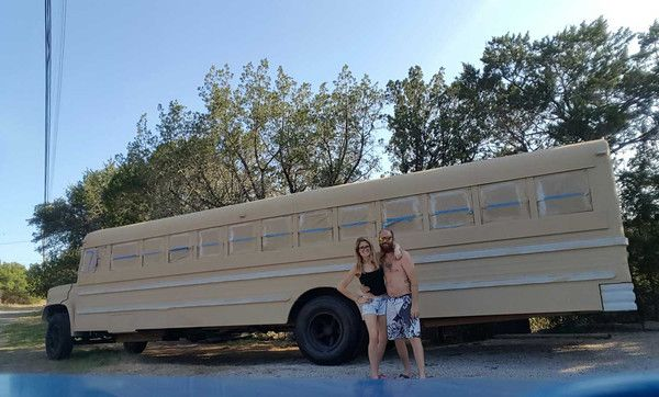 Why in the world would anyone want to live in a school bus? Hi! We're Jeff