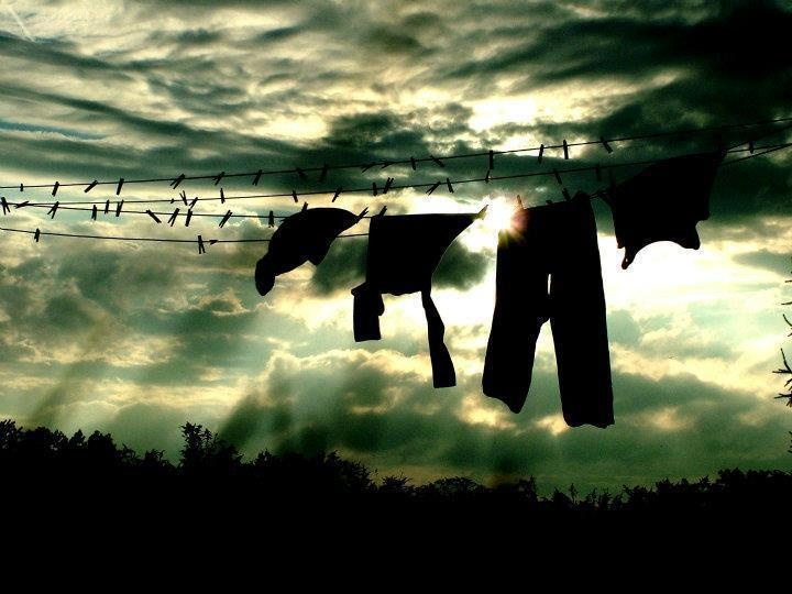 """""""To me, this a very beautiful picture. Clothes drying in the fresh air and the…"""
