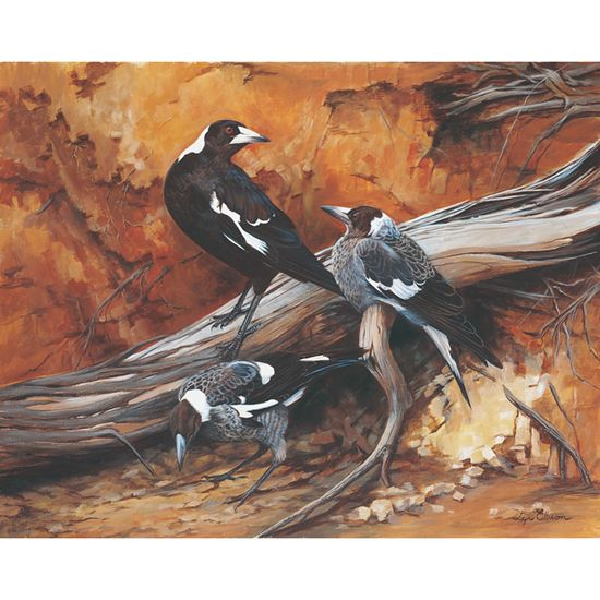 """Magpie Moment"" limited edition by Lyn Ellison"