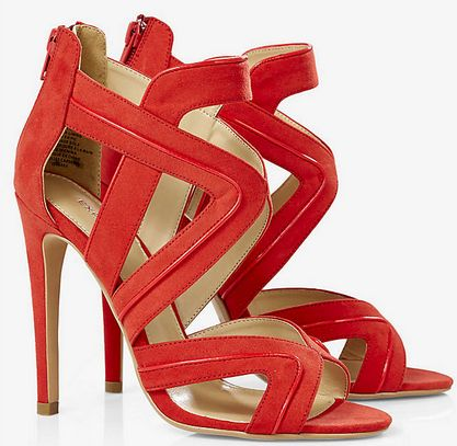 Cut-Out Heeled Runway Sandal from Express. #prom #shoes #heels